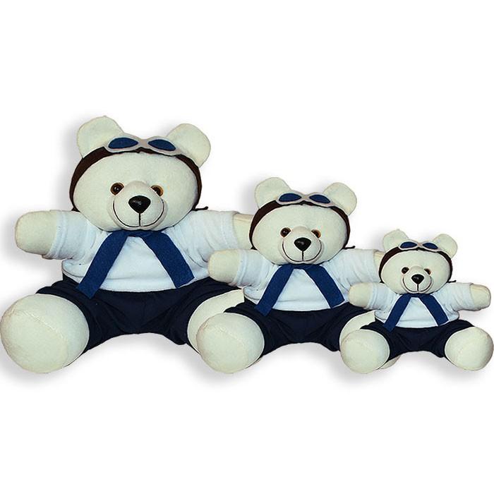 Trio de Ursinhos - Aviador Marinho