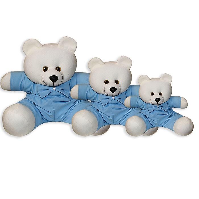 Trio de Ursinhos - Gravata Azul