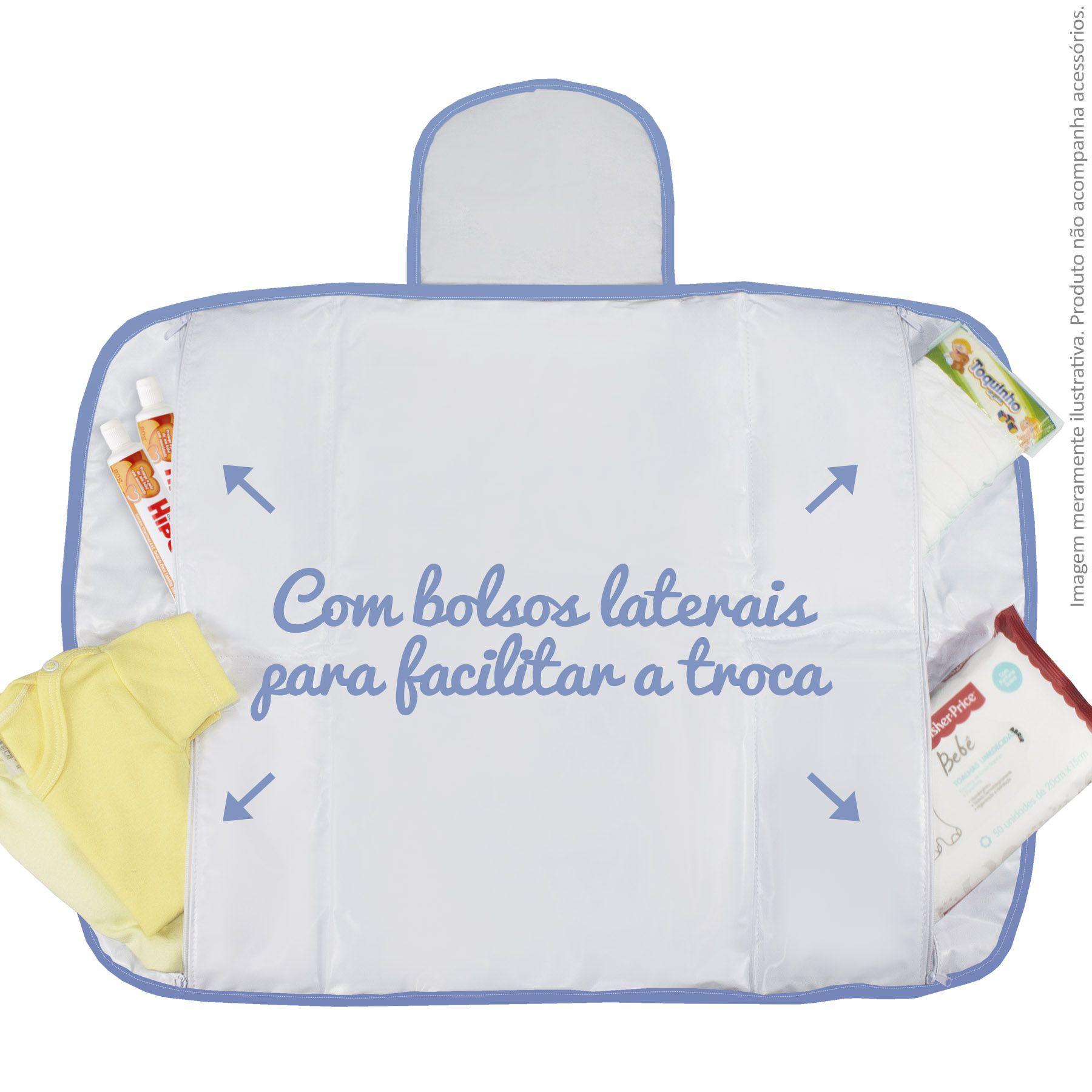 Trocador Portátil c/ Bolsos - Avião