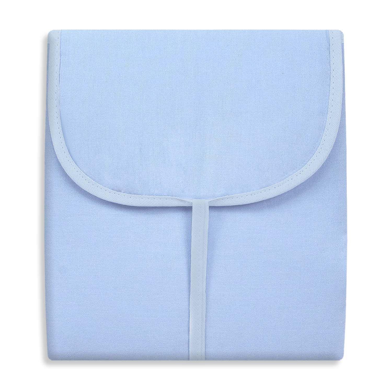 Trocador Portátil c/ Bolsos - Azul c/ Branco