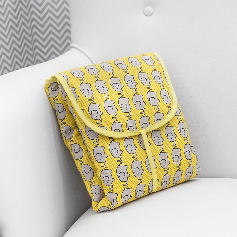 Trocador Portátil Elefante Amarelo