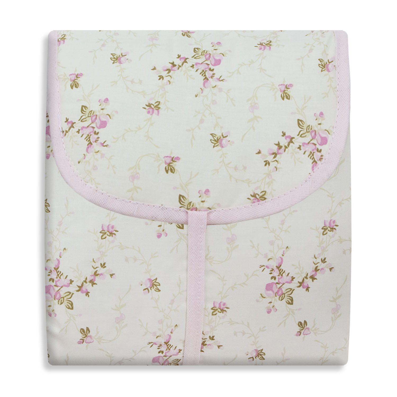 Trocador Portátil - Floral Rosa