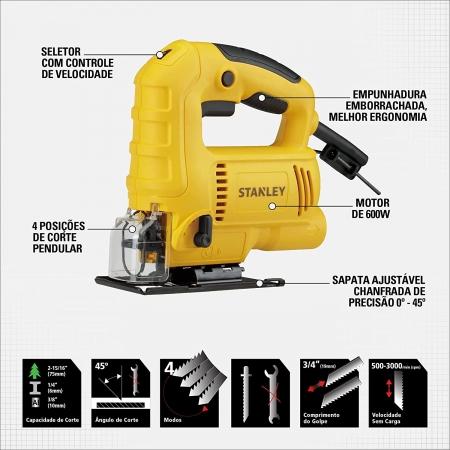 Serra Tico Tico 600W Com Kit 127V - STANLEY