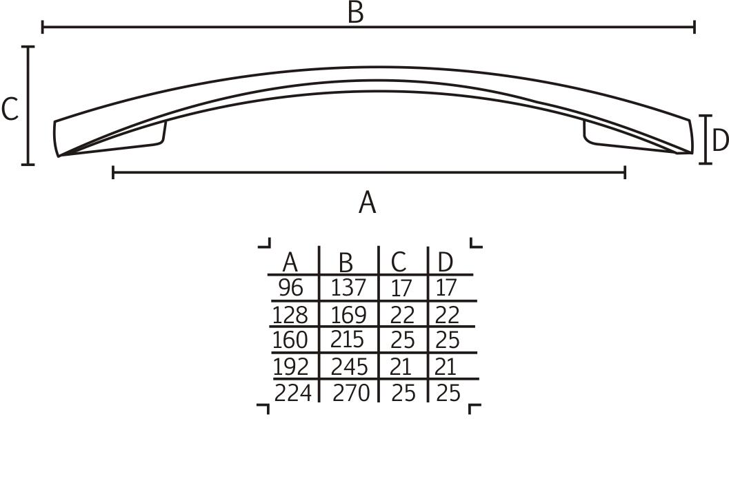Puxador 2092 NI/AE - ITALY LINE