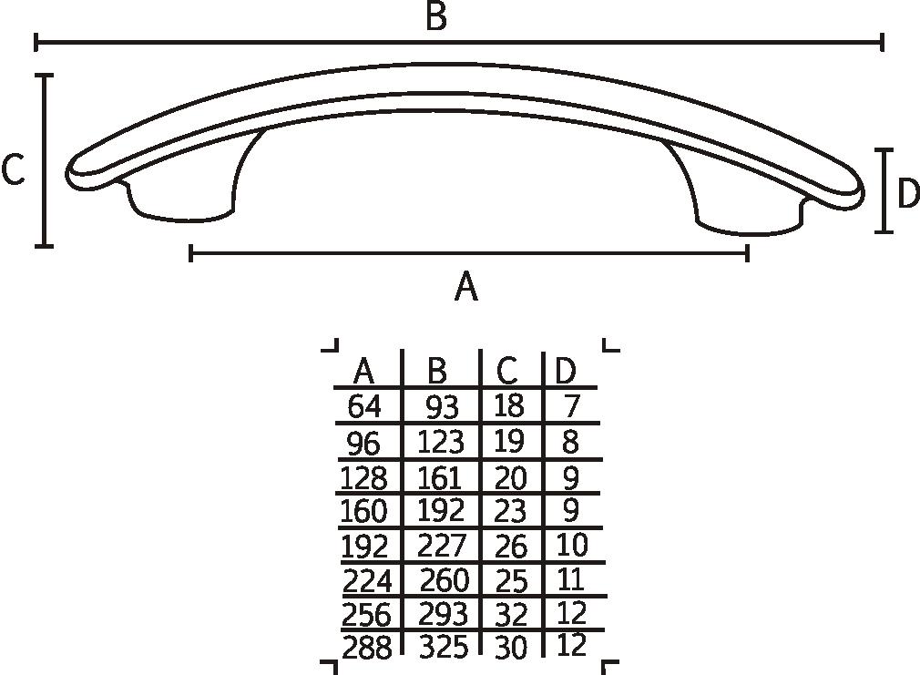 Puxador 0518 CR - ITALY LINE