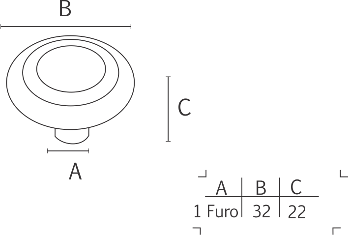 Puxador Colonial 130 Cobre Antigo - ITALY LINE