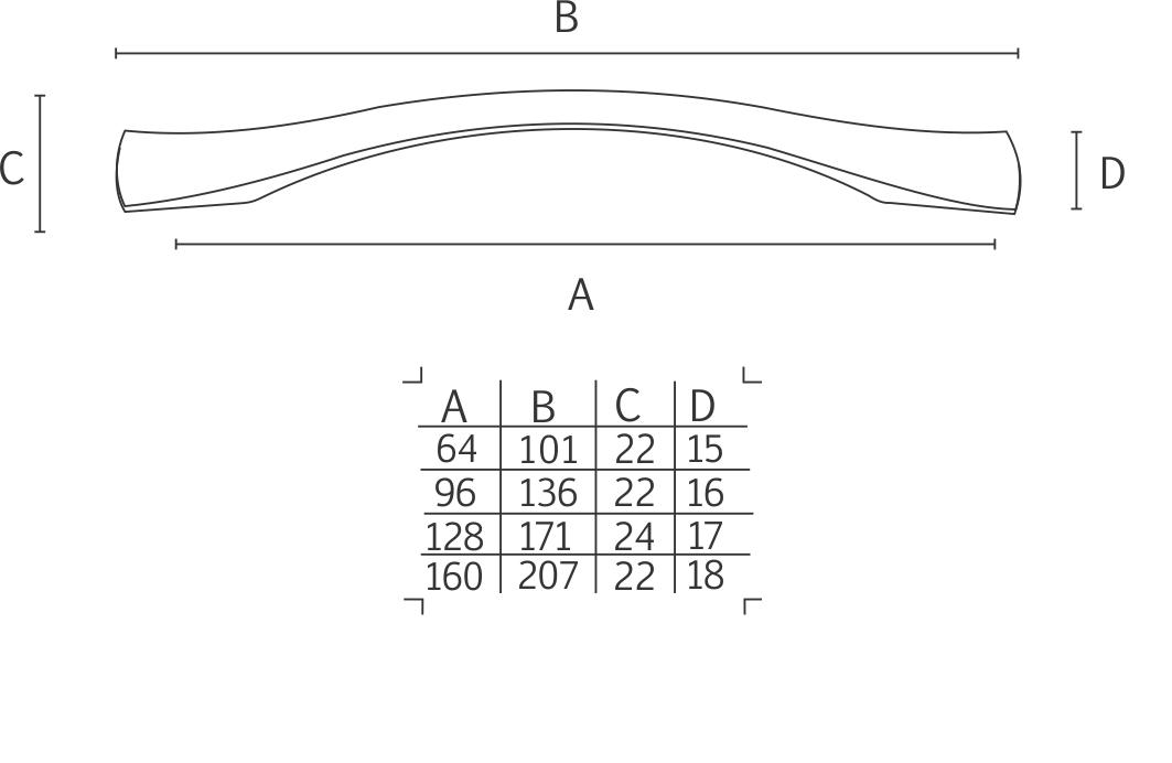 Puxador IL2094 CR - ITALY LINE