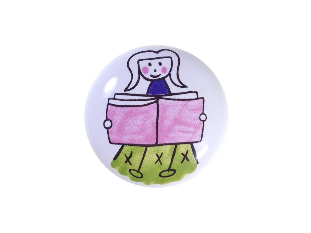 Puxador Menina Estudante - Cerâmica A 056 - ITALY LINE