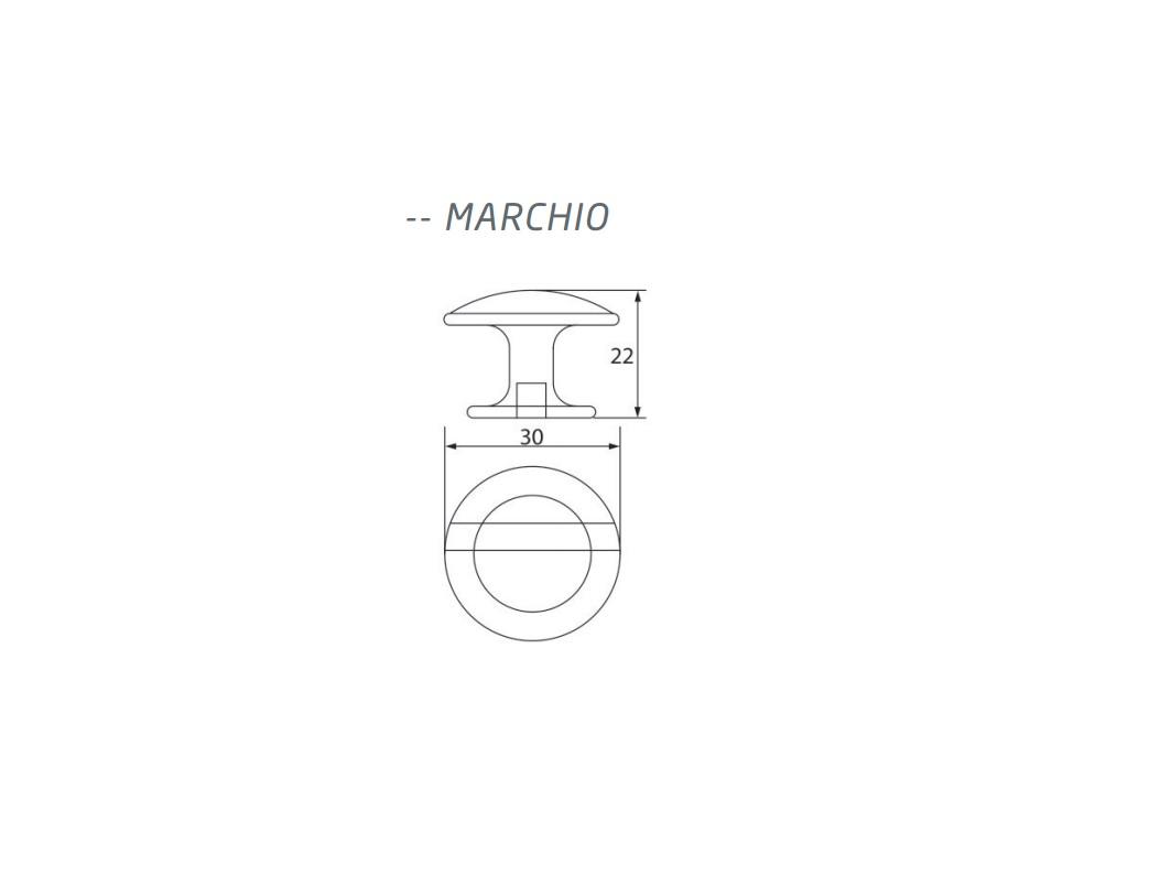 Puxador Marchio Escovado Large - ARCHI