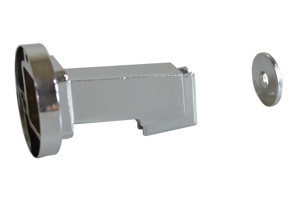 Prendedor para Porta Magnético Cromado - UNIÃO MUNDIAL