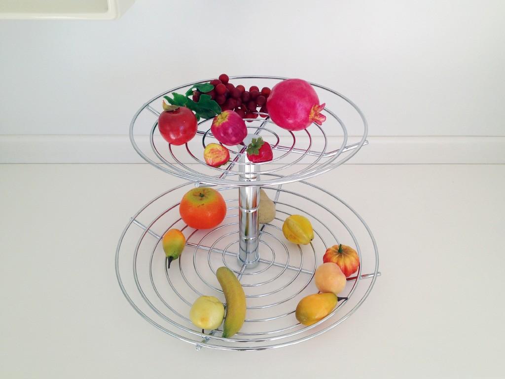 Fruteira Doble de Mesa Cromada - MASUTTI COPAT