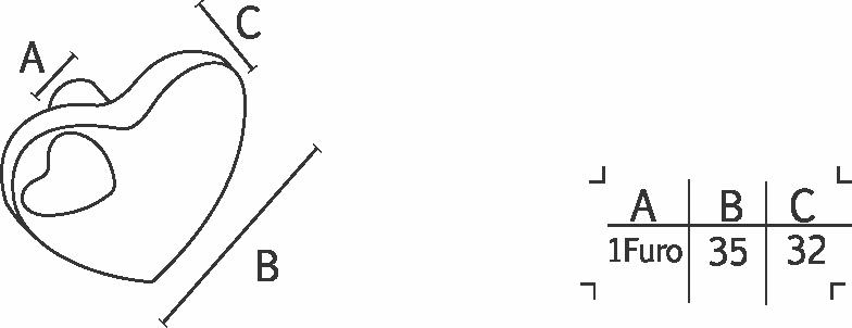 Puxador IL4425 35mm Dourado - ITALY LINE