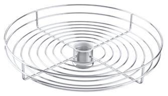 """Cesto Redondo sem Vidro Acabamento cromado / pintado - Fixação para tubo 2"""" Acompanha o anel de sustentação Ø 450 mm x 95 mm"""