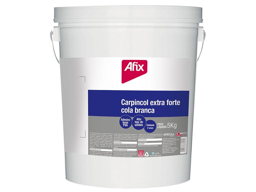 Cola Branca Afix Carpincol Pva Extra 5 Kg - ARTECOLA