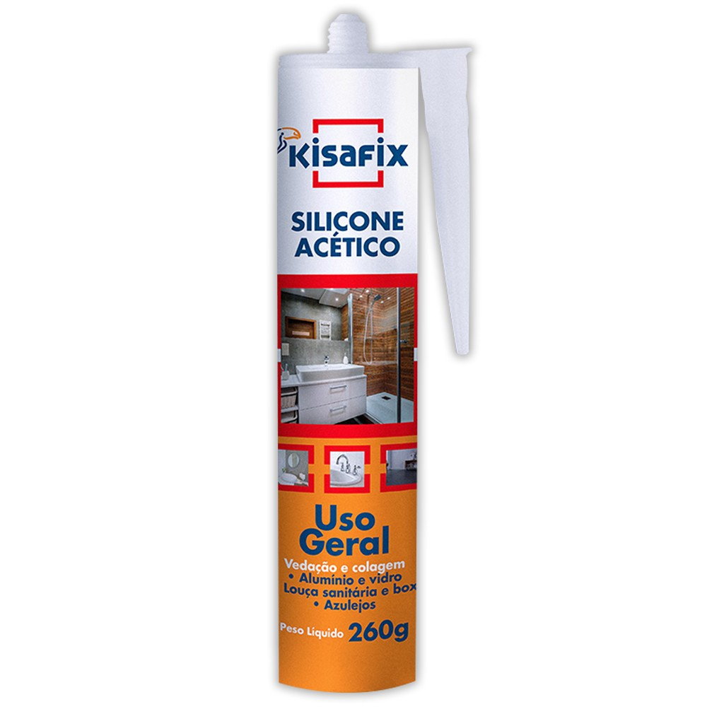 Kisafix Silicone Acetico Incolor 260g