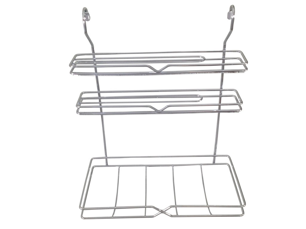 Porta Rolos C/ Serrilha Cromado Para Cozinha - MASUTTI
