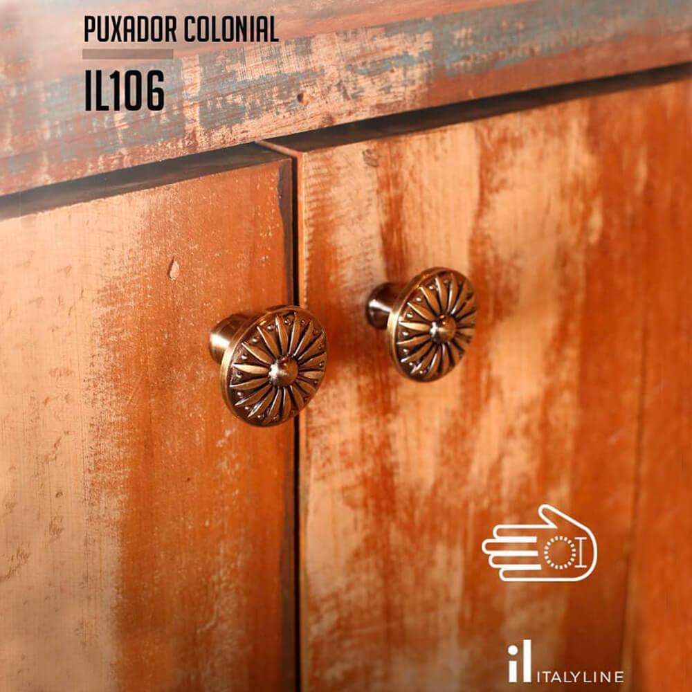 Puxador Colonial 106 Cobre Velho