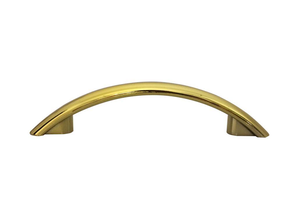 Puxador Floripa Dourado 96mm - PLASMOBILE