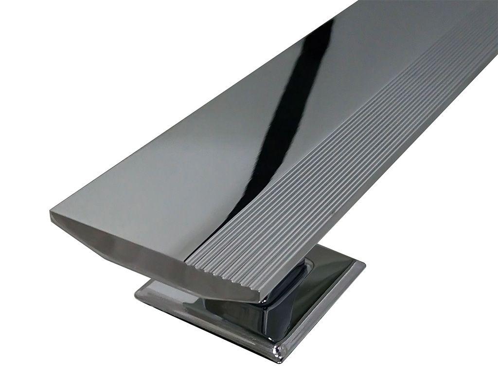 Puxador Mediterraneo Alumínio 600mm Cromado - HASTVEL