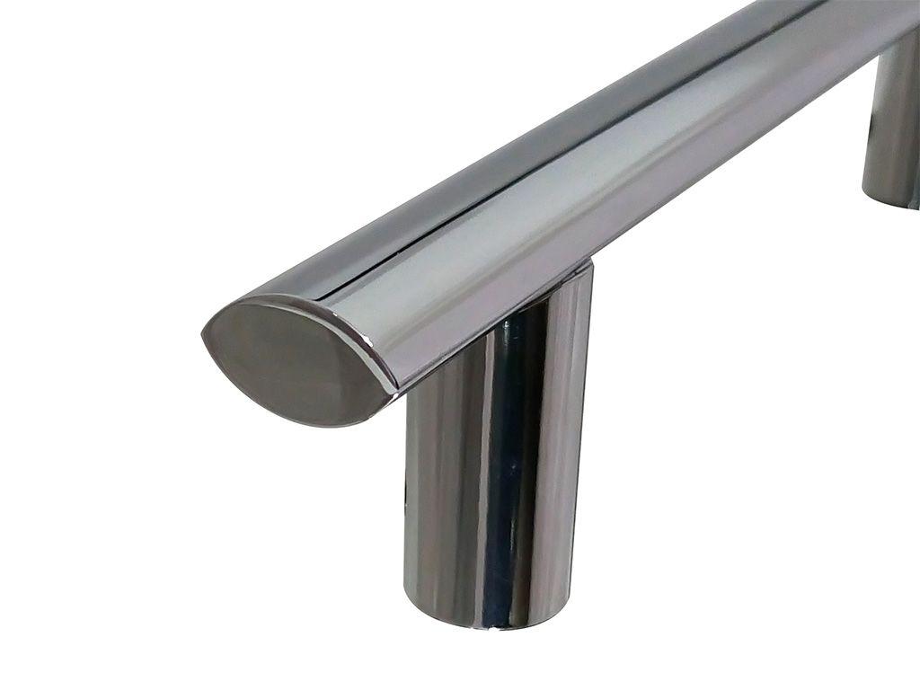 Puxador Murano Alumínio 160mm Polido - HASTVEL