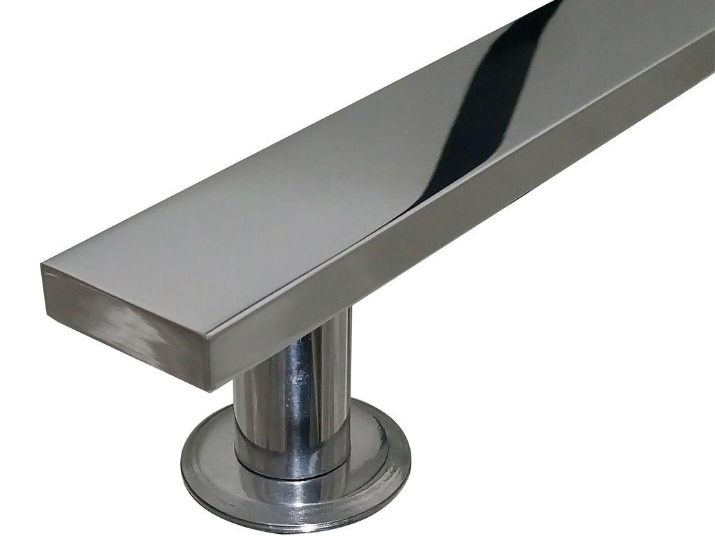 Puxador Paris Alumínio 1000mm Polido - HASTVEL