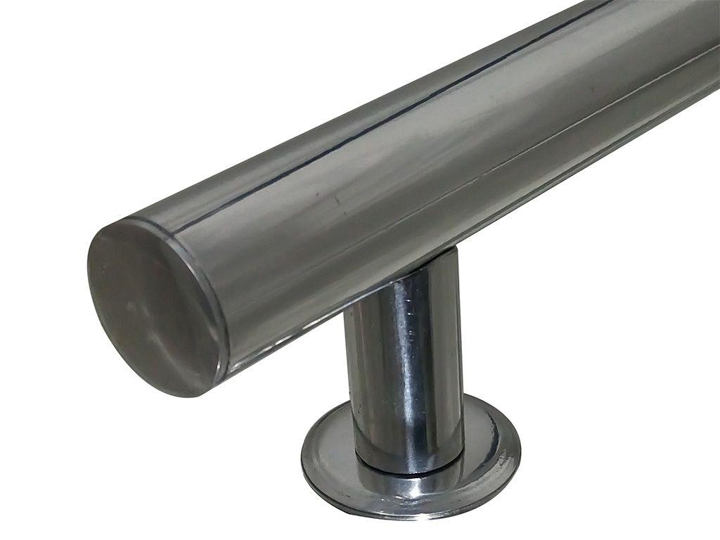 Puxador Tubular Alumínio 300mm Polido - HASTVEL