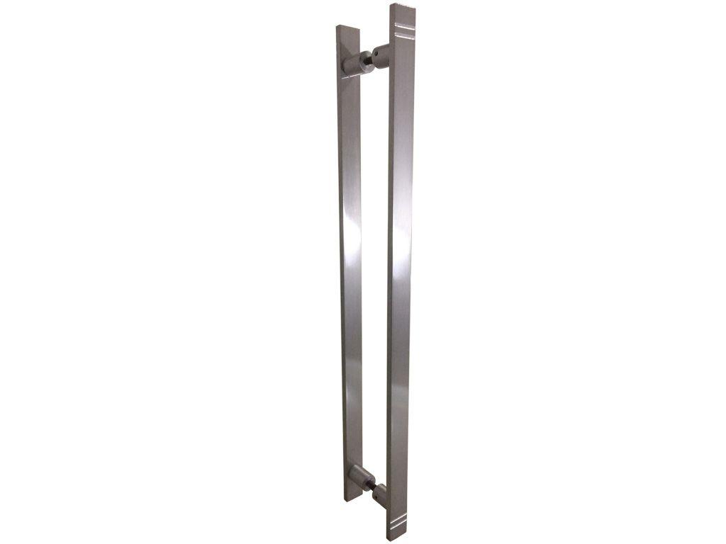 Puxador Zeus Alumínio 600mm Escovado - HASTVEL