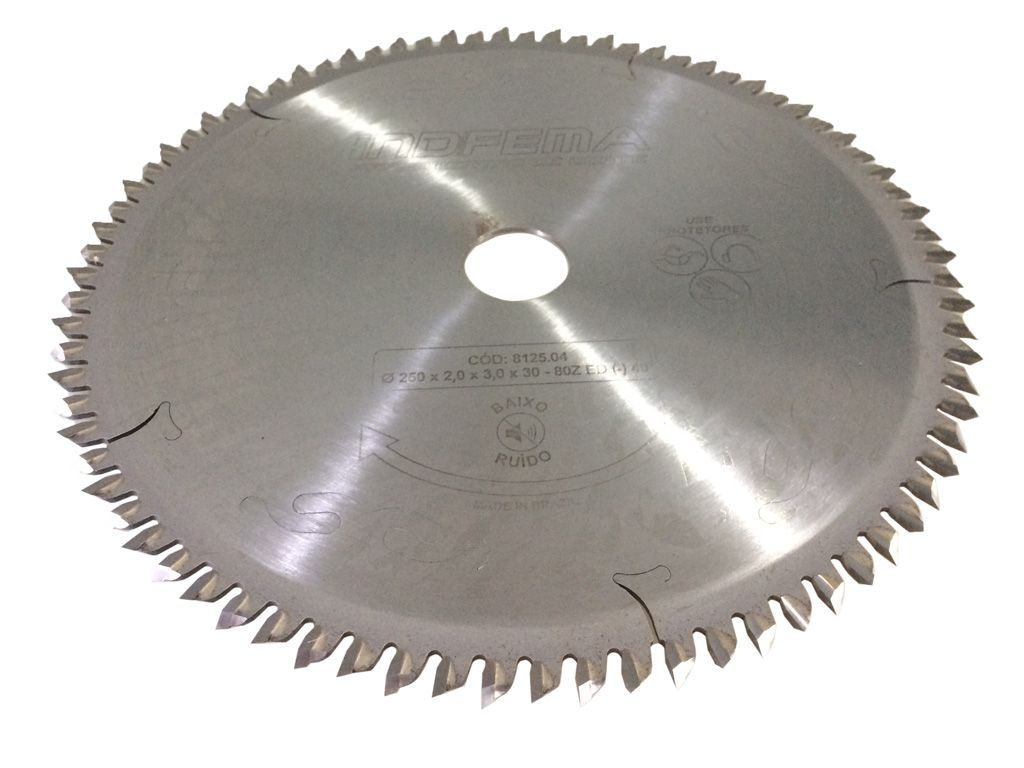 Serra Circular Baixo Ruído P/MDF 250mm 80 Dentes 8125.04 - INDFEMA