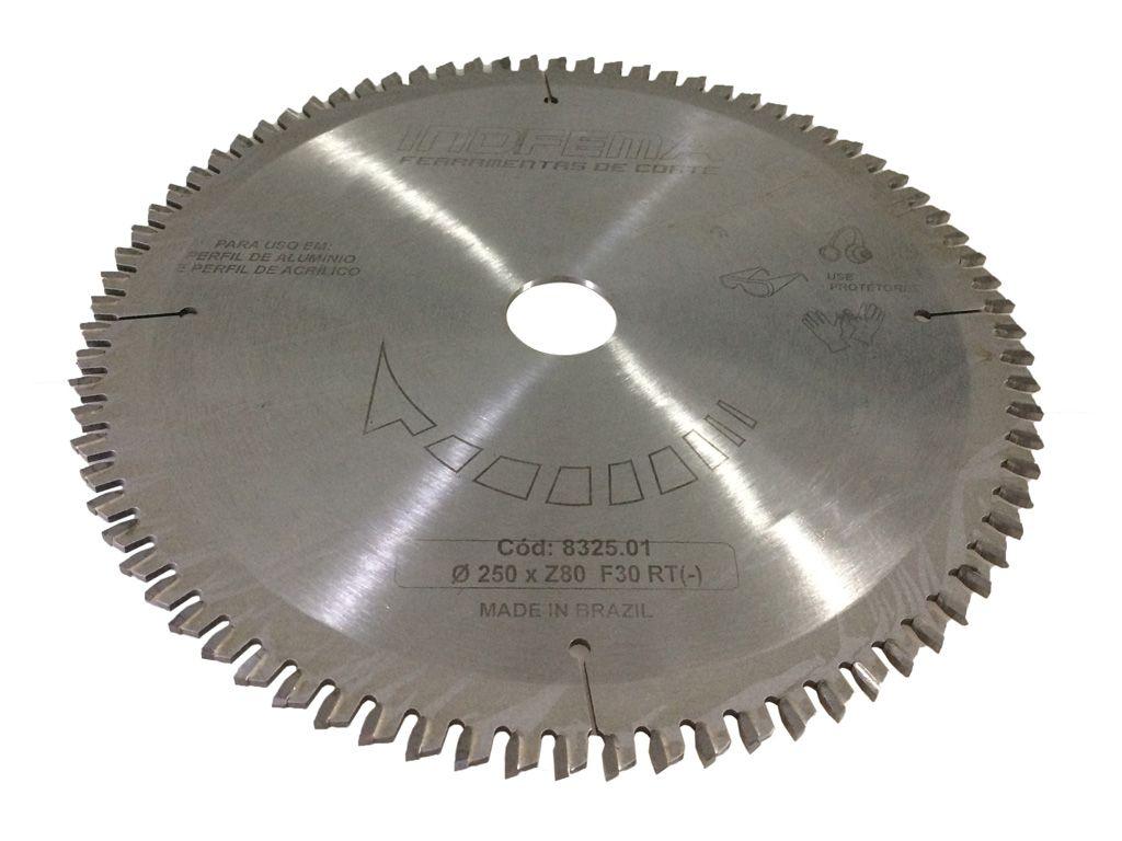 Serra Circular Para Aluminio e Acrilico 250mm 80 Dentes RT 8325.01 - INDFEMA