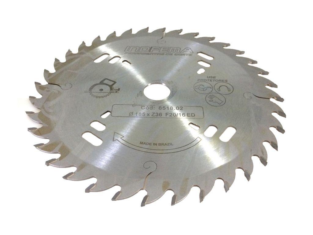 Serra Circular para Madeira 185mm 36 Dentes ED 8518.02 - INDFEMA