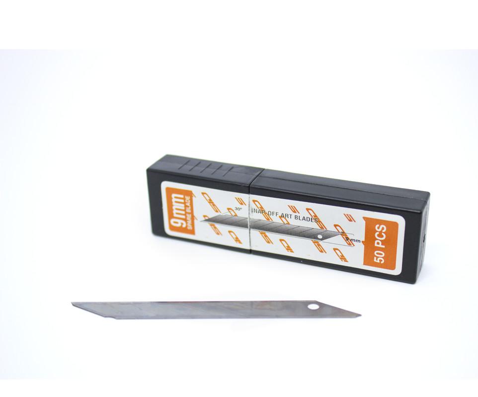 Kit de 50 lâminas de estilete 9mm 30 graus em aço carbono SID