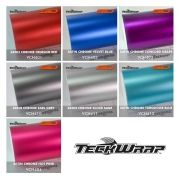 Vinil TeckWrap - Satin Chrome Metro Linear