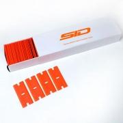 Lâmina plástica dupla para raspador de vinil (caixa com 50 un)