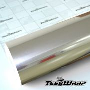 CHM01E Mirror Chrome White Gold - Escolha entre metro linear ou rolo fechado