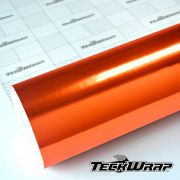 CHM11E Mirror Chrome Orange - Escolha entre metro linear ou rolo fechado
