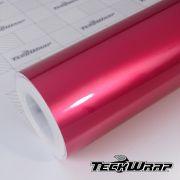 GAL04 Gloss Aluminium Deep Pink - Escolha entre metro linear ou rolo fechado
