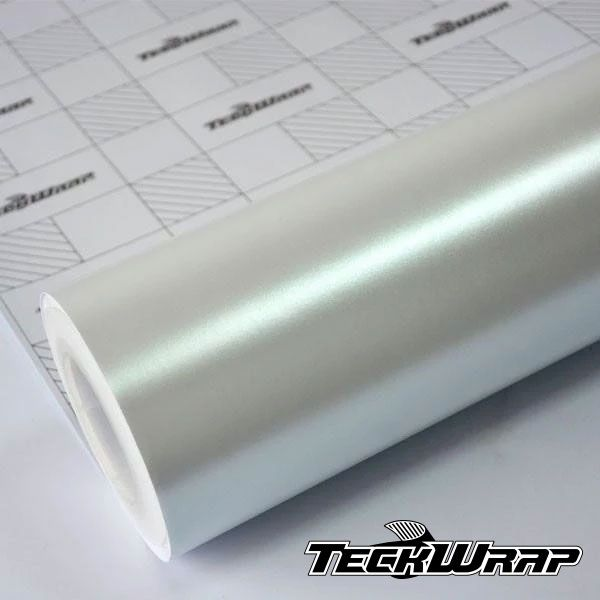 ECH01 Matte Metallic Satin Pearl White - Escolha entre metro linear ou rolo fechado