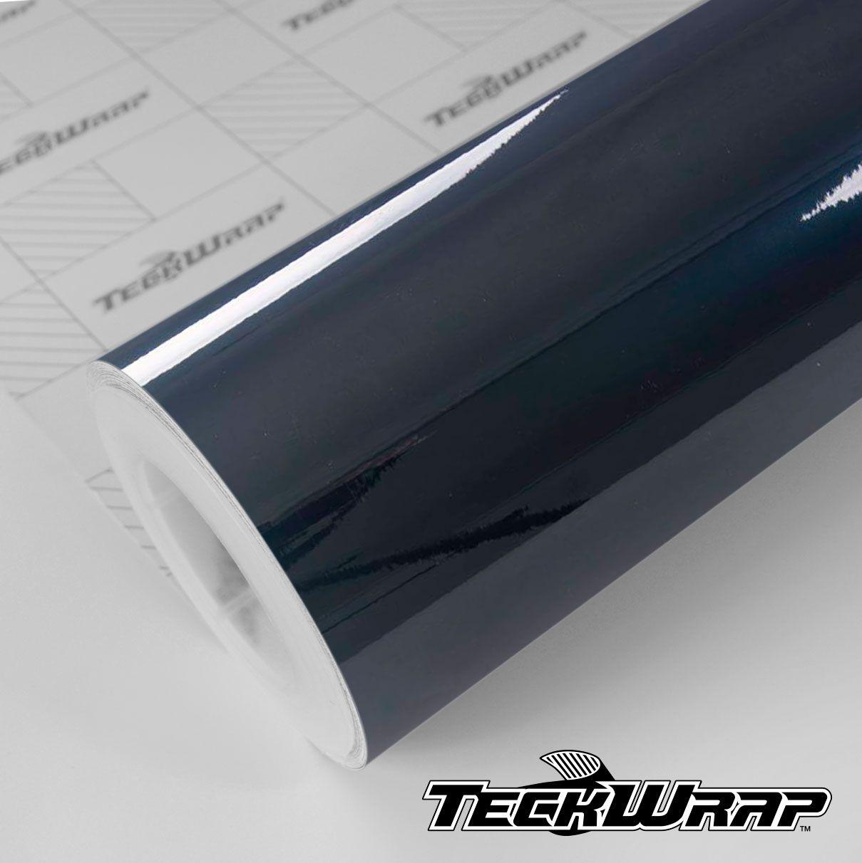 GAL17 Gloss Aluminium Prusian Blue - Escolha entre metro linear ou rolo fechado