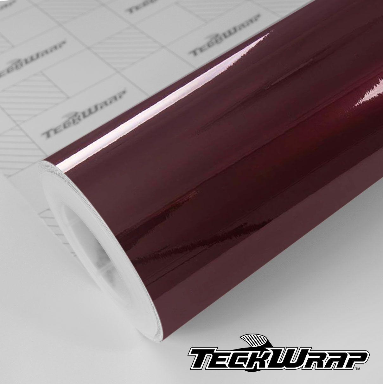GAL27 Gloss Aluminium Mahogany Red - Escolha entre metro linear ou rolo fechado