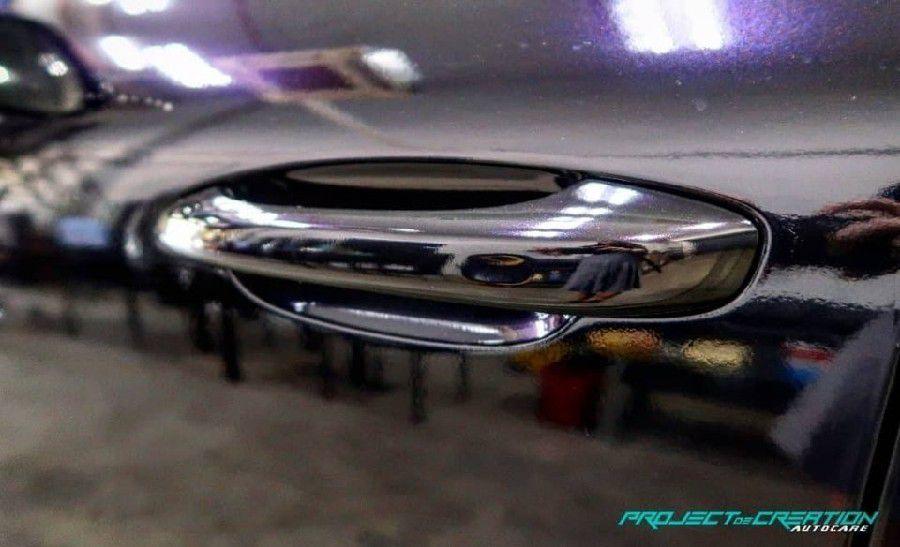 GAL28 Gloss Aluminium Black Purple - Escolha entre metro linear ou rolo fechado