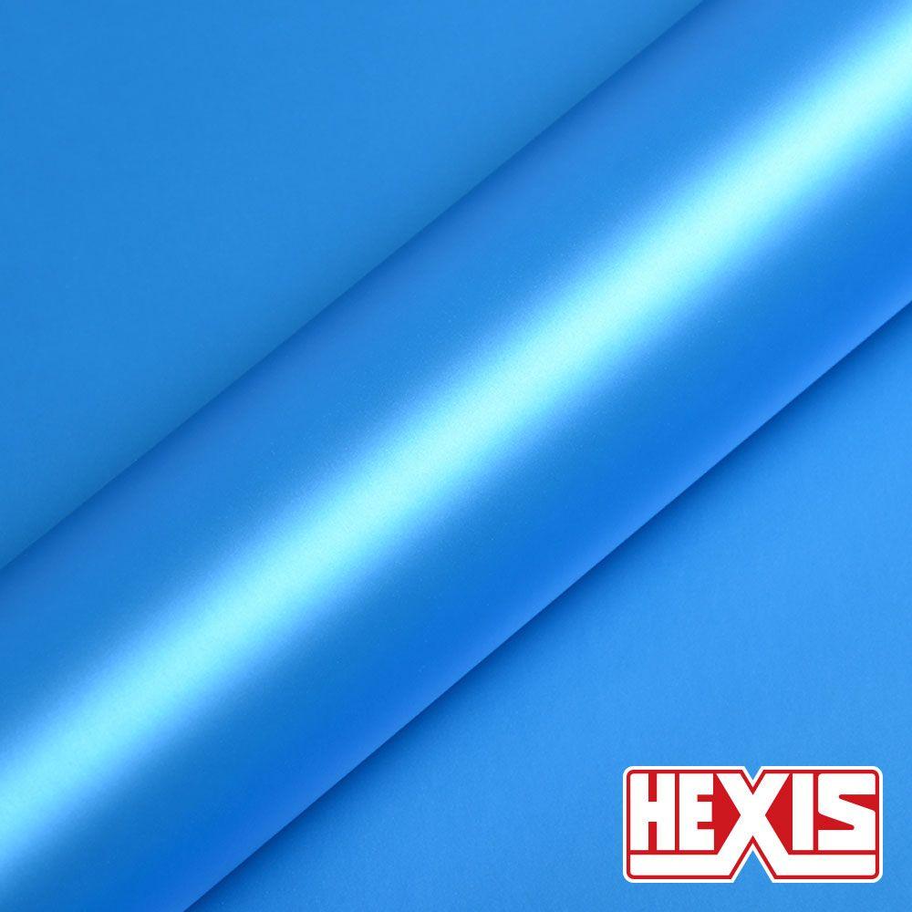 HX20219S Ara Blue Mettalic Satin - Escolha entre metro linear ou rolo fechado