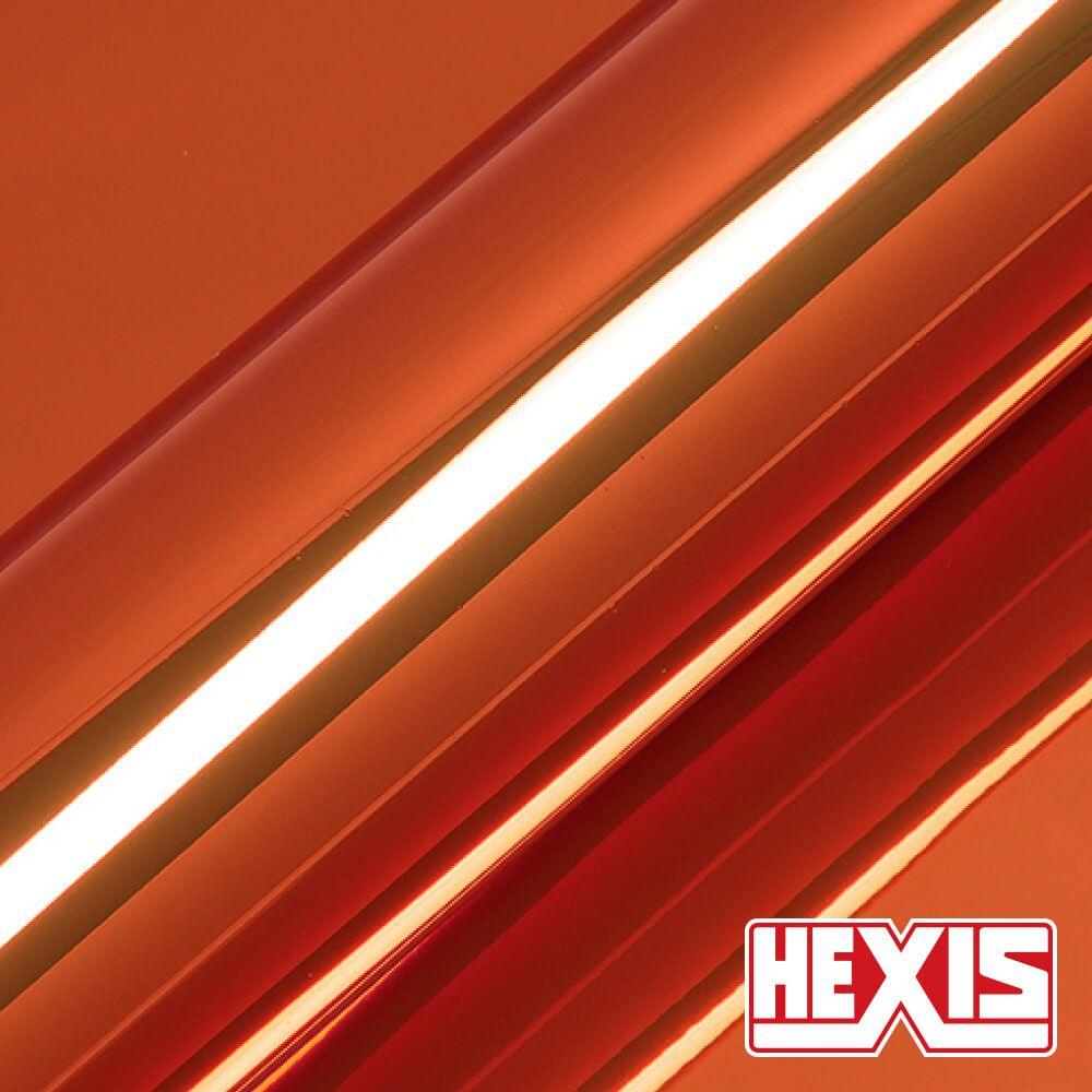 HX30SCH08B Chrome Orange Gloss - Escolha entre metro linear ou rolo fechado