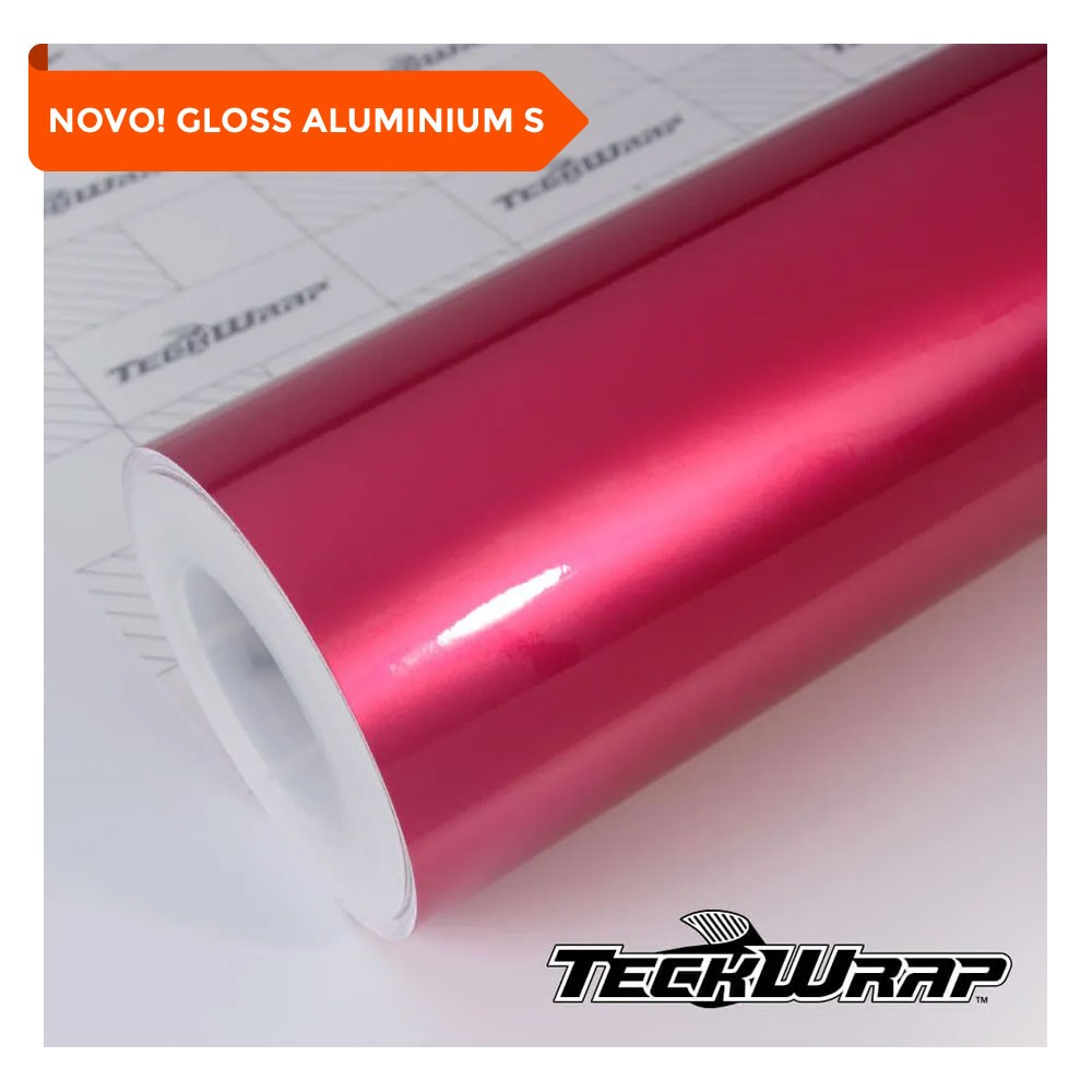NOVO! Teckwrap - Deep Pink Gloss Aluminium - GAL04-S