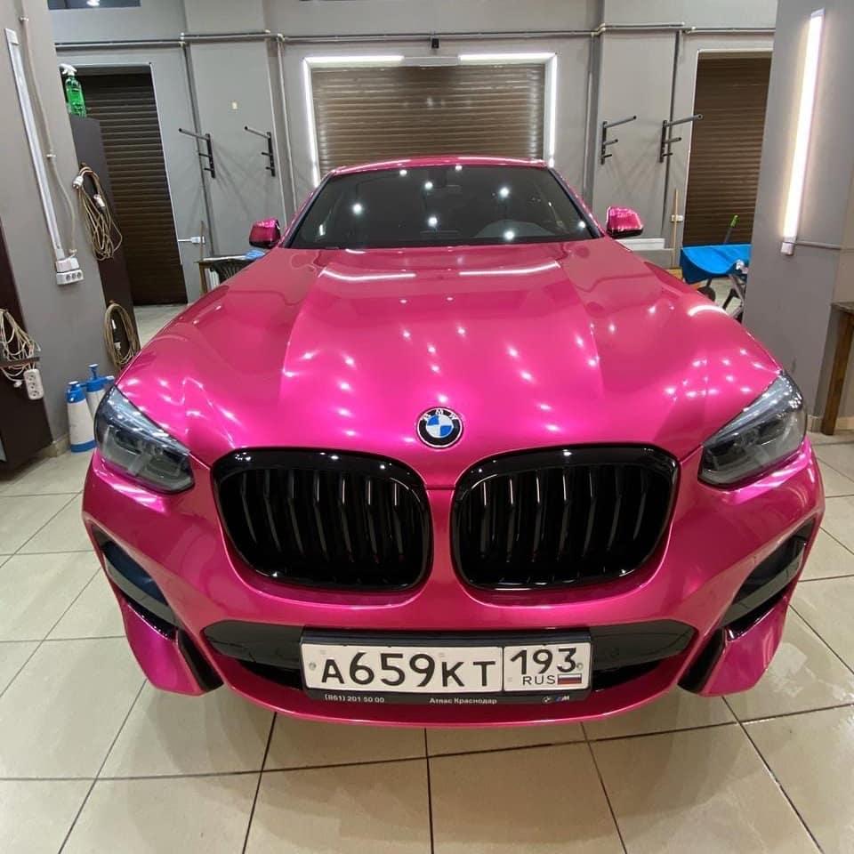 NOVO! Teckwrap - Hot Pink Satin Chrome  -  VCH404-S