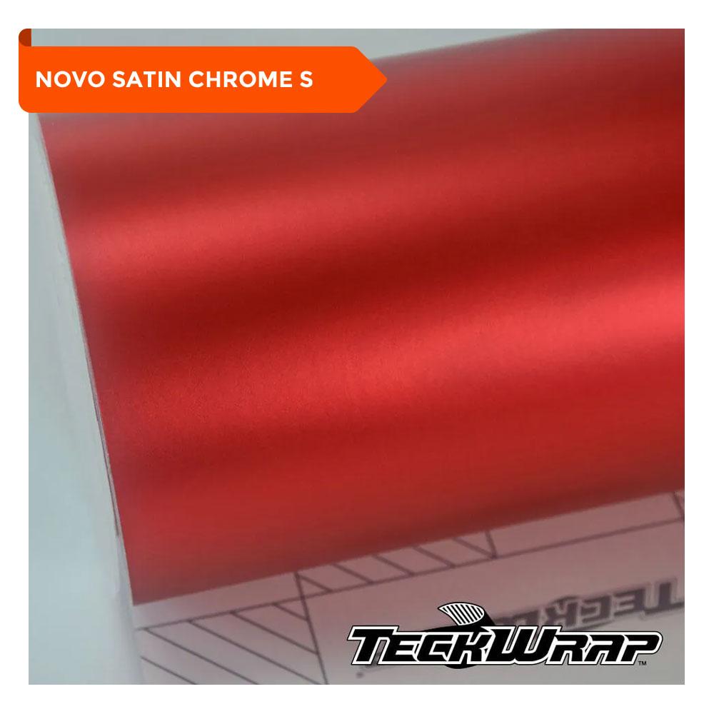 NOVO! Teckwrap - Crimson Red Satin Chrome - VCH401-S