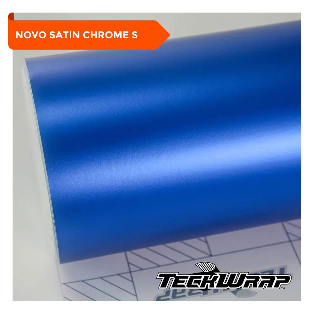 NOVO! Teckwrap - Velvet Blue Satin Chrome - VCH402-S