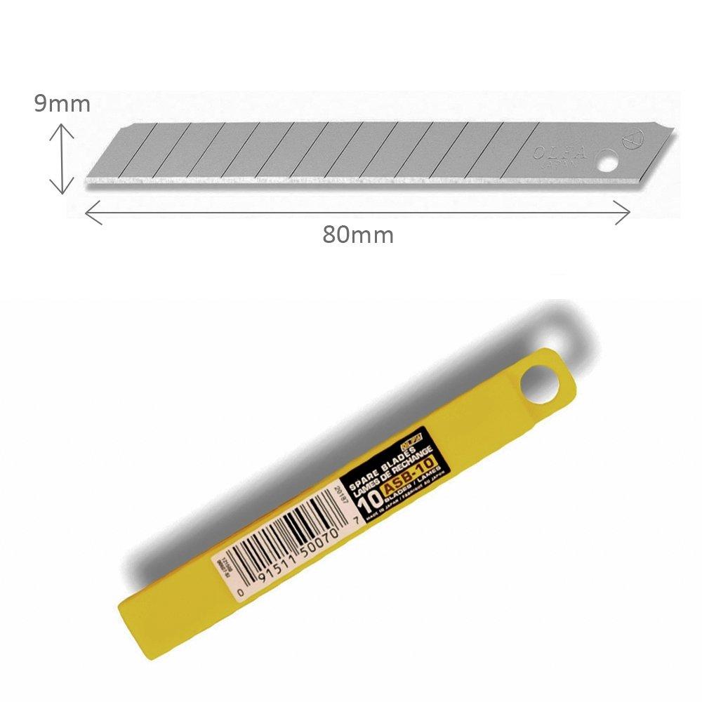 Kit de 10 Lâminas ASB-10B 9mm - Olfa