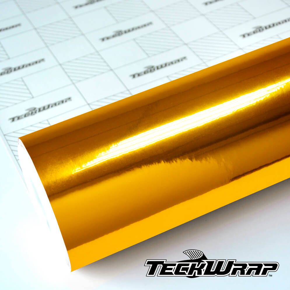 CHM02E Mirror Chrome Yellow Gold - Escolha entre metro linear ou rolo fechado