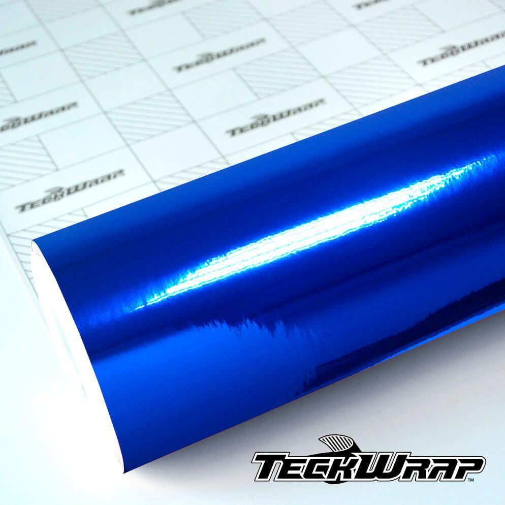 CHM08E Mirror Chrome Sapphire Blue - Escolha entre metro linear ou rolo fechado