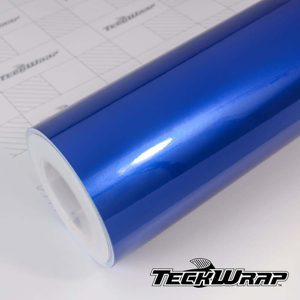 GAL02 Gloss Aluminium Blue Gem - Escolha entre metro linear ou rolo fechado